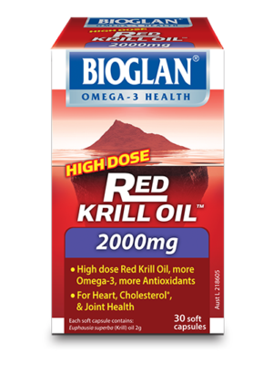 Bioglan Red Krill Oil 2000mg for arthritis, joint health, heart health