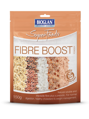 Fibre boost for constipation, digestive health and cholesterol