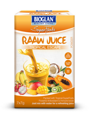 Bioglan Superfoods RAAW Juice Tropical Escape blend
