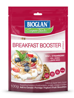 bioglan superfoods breakfast booster goji and strawberry flavour