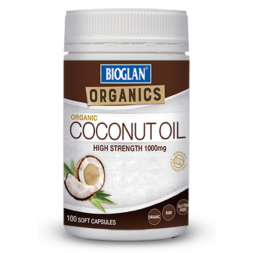 Coconut oil gel capsules