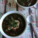 Broccoli, Pea and Spirulina Soup