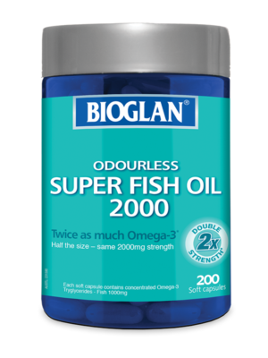 Bioglan Odourless Super Fish Oil 2000mg 200s