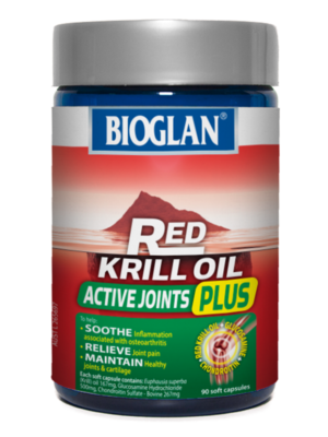 bioglan red krill oil active joints plus 90s