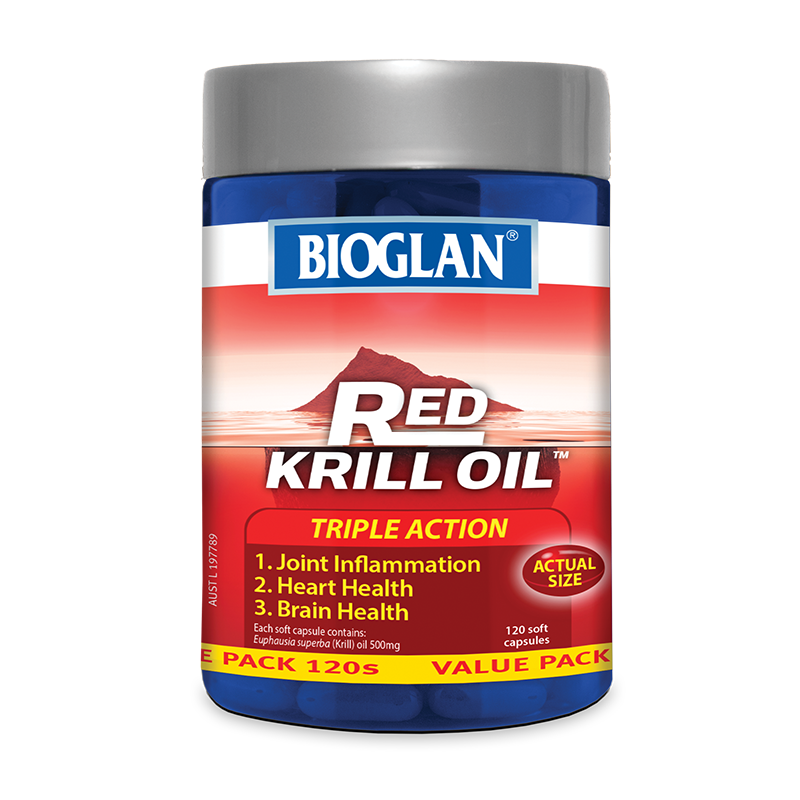 Red Krill Oil Triple Action 500mg 120s