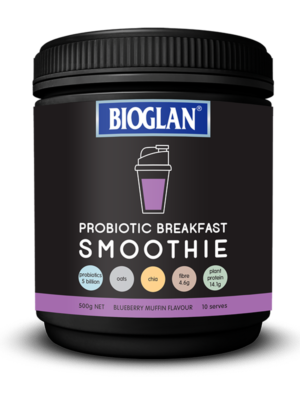 blueberry muffin probiotic breakfast smoothie