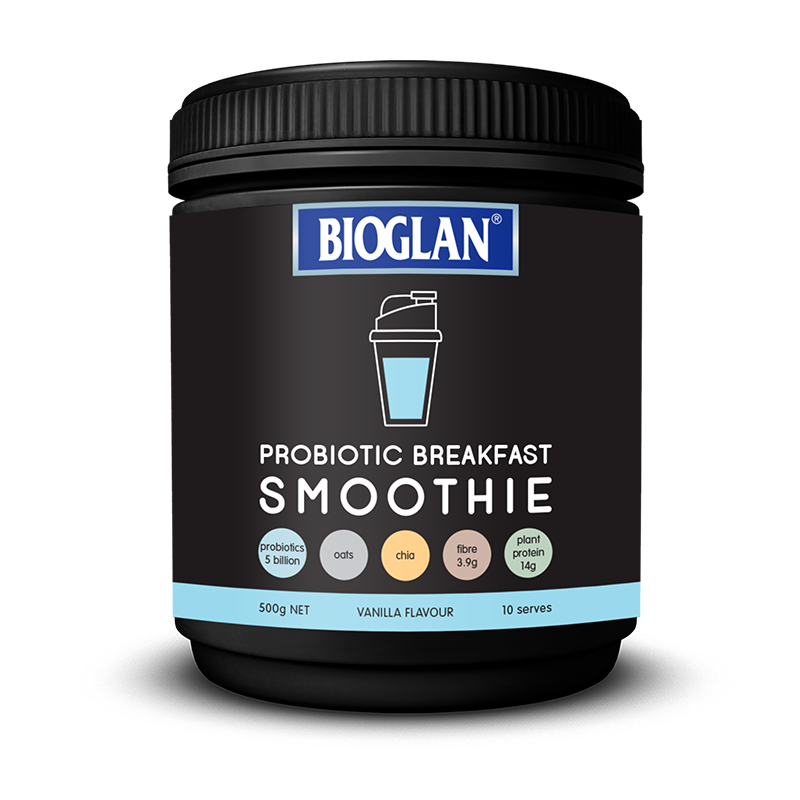 vanilla probiotic breakfast smoothie